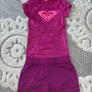 Roxy two piece rashguard set top & shorts girl 5